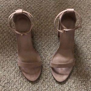 Block sandal heels